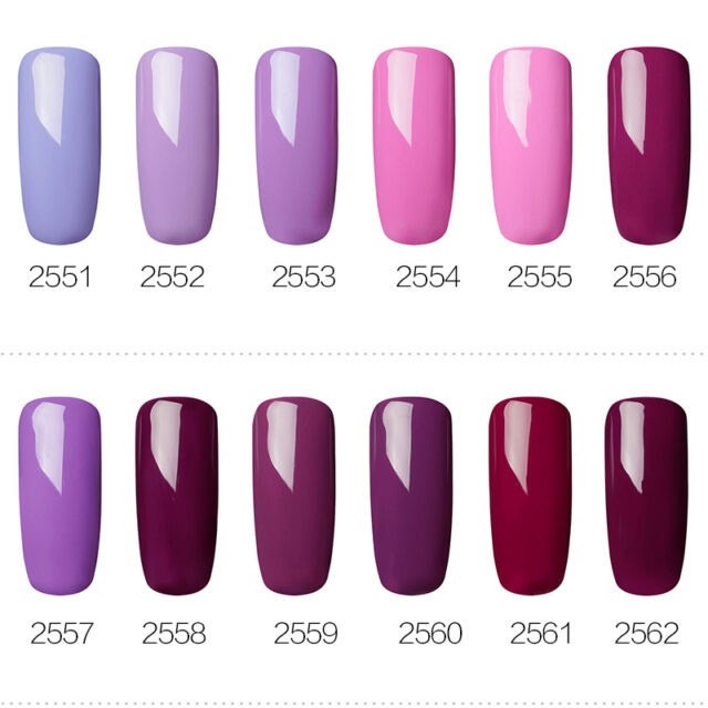 Gel Nail Polish Purple Color Series 7 ml