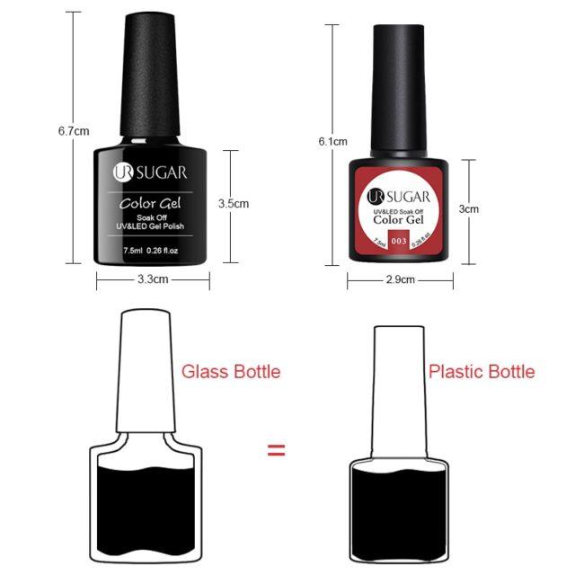 Nude / Glitter UV Gels 2 pcs Set