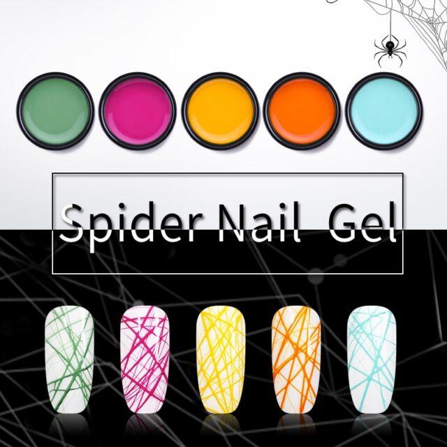 30 Colors Spider Nail Art Gel