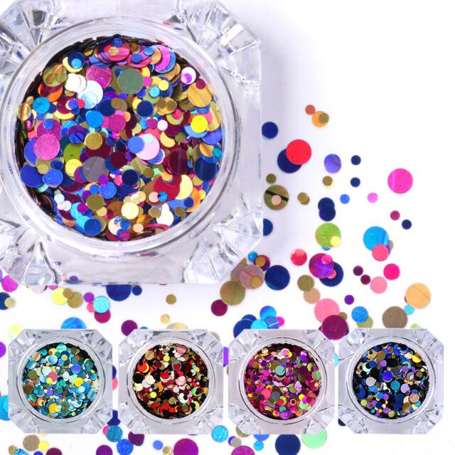 Holographic Bubbles Nail Sequins