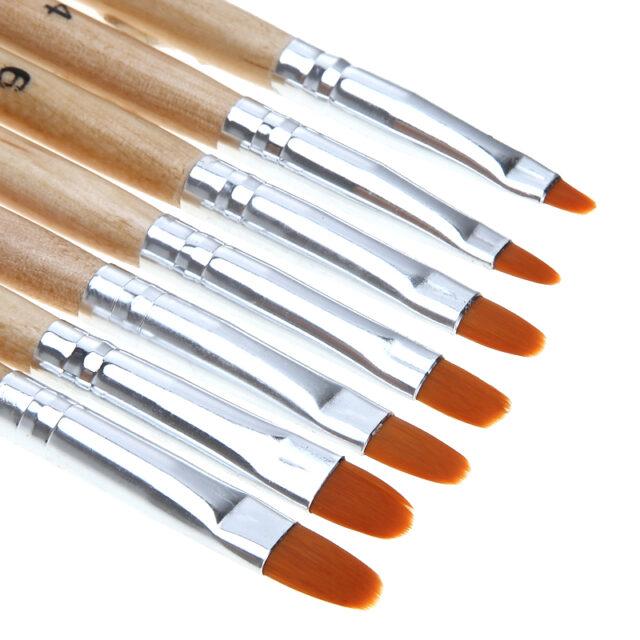 Set Nail Art Round Brushes for Gel Polish